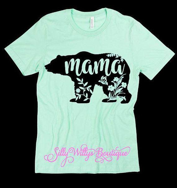 227eb533b2aa3 Floral mama bear shirt