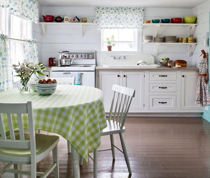 Стильный дизайн проект кухни в стиле шебби шик