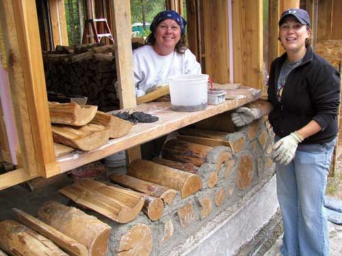 building cordwood home