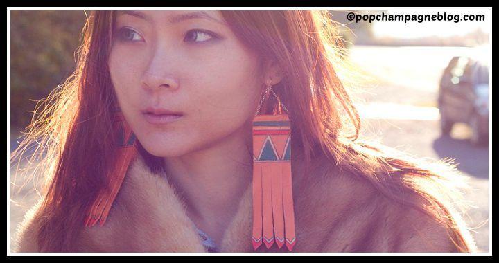 DIY Leather Tribal Print Earrings Tutorial