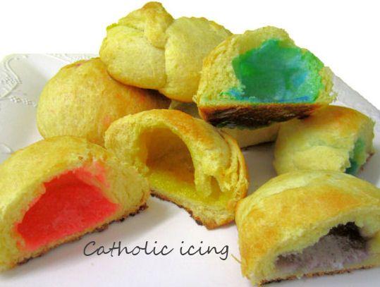 rainbow resurrection rolls for an Easter treat