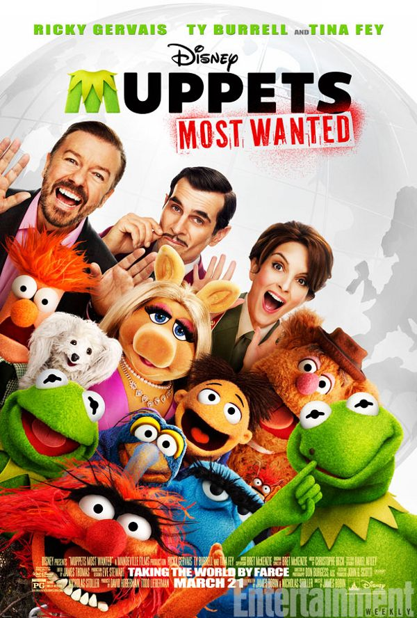 """The new trailer has been released for the eighth installment of the franchise """"Muppets Most Wanted"""" starring Ricky Gervais , Ty Burrell and Tina Fey. This film introduces us to Kermit's doppelganger Constantine who is the world's most dangerous frog.  The film is scheduled to hit the big screen March 21,2013 and I will be there with popcorn in hand imagining I was a little kid again. To watch the trailer visit: http://rsrgentertainment.com/muppets-most-wanted-trailer/"""