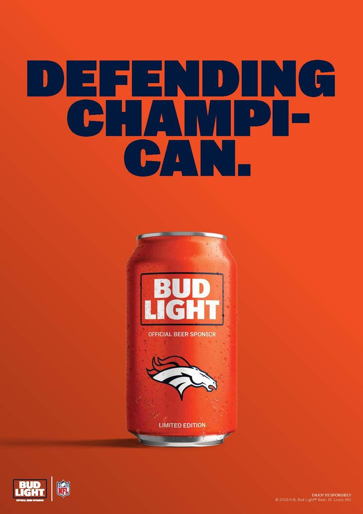In Denver, after the Broncos won the Super Bowl and raised the Lombardi Trophy, fans raised a can to toast the newest champs.