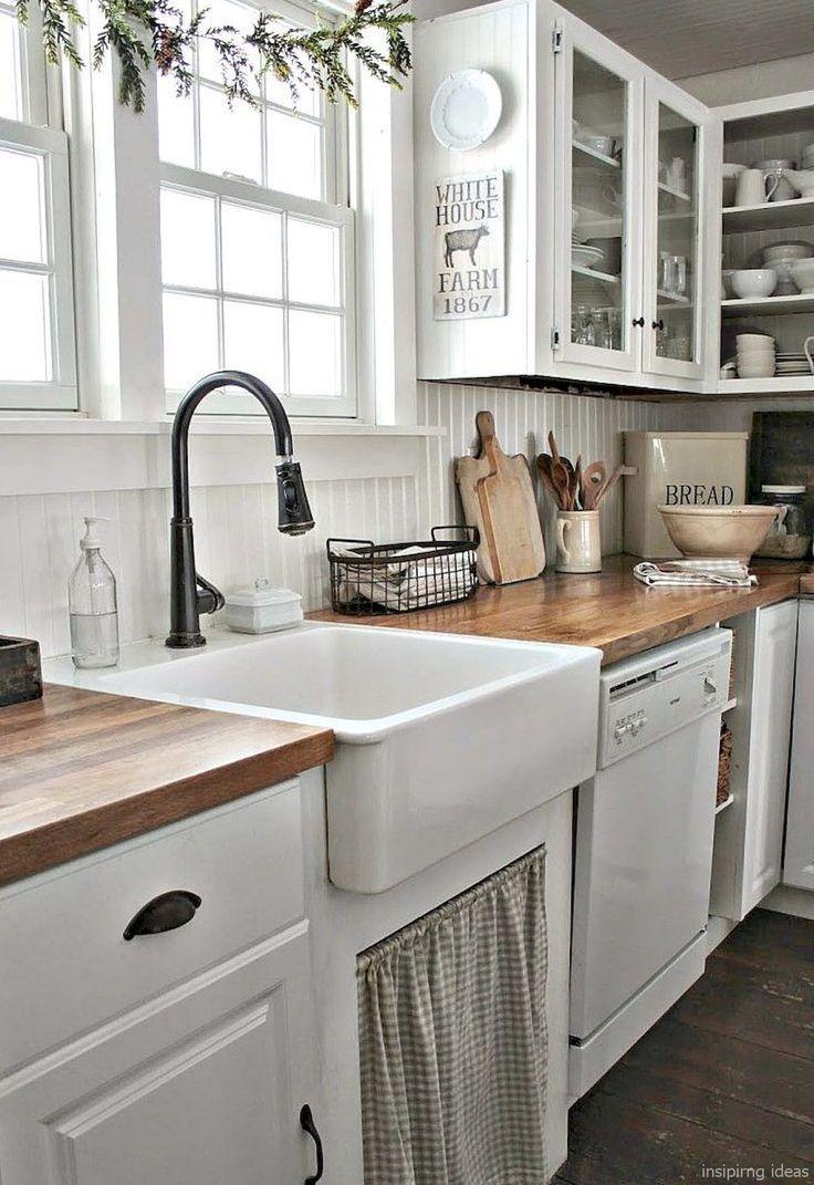 62 Fabulous Farmhouse Kitchen Makeover Ideas The
