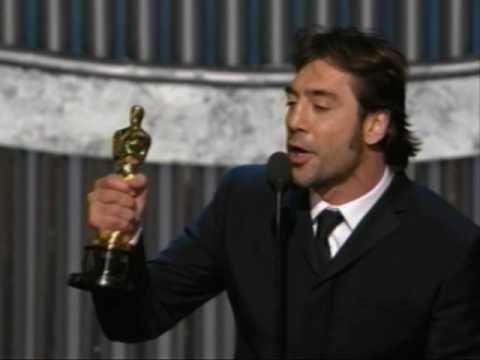 Javier Bardem winning Best Supporting Actor