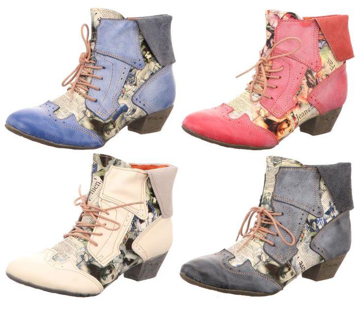 TMA Damen Stiefeletten Leder Damenschuhe Gr 36 bis 42 Neu 6188 Rest Stiefel  | eBay
