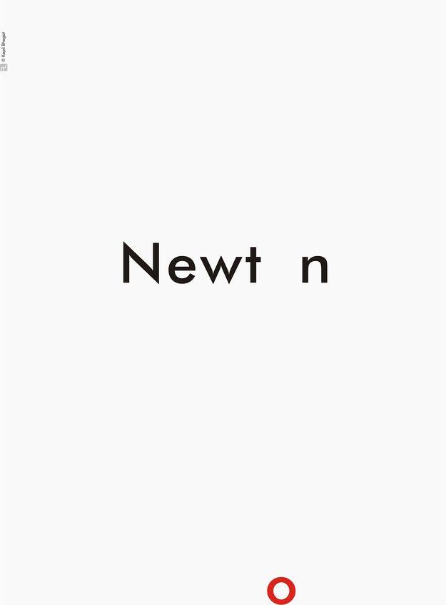 Newton - Wonderful, Inspiring Minimalist SciencePosters