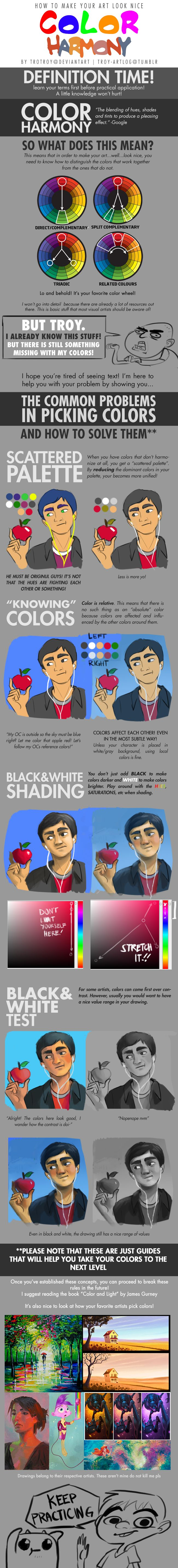 Color harmony online - How To Make Your Art Look Nice Color Harmony By Trotroy On Deviantart