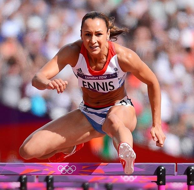 Jessica Ennis Olympic heptathlon champion -day 8