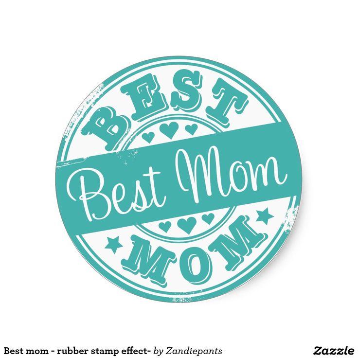Beste mamma - rubberzegeleffect ronde stickers