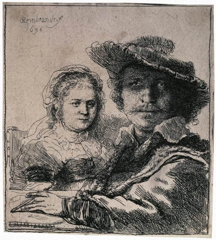 best rembrantd рисунок images etchings  rembrandt zelfportret met sakia