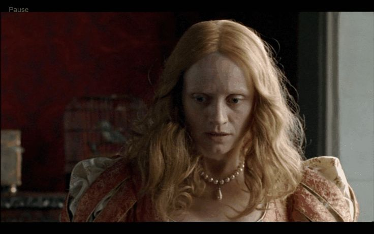 """Own this simple but stunning necklace, which is a replica of the one worn by Anne-Marie Duff as Elizabeth in """"The Virgin Queen"""". Further Product Info: http://www.theanneboleynfiles.com/products-page/elizabeth-i-categories/virgin-queen-ivory-pearl-drop-necklace/#ixzz2mMx87aZ8"""