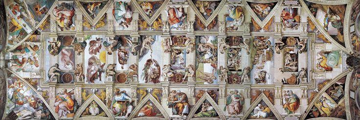 Fine Art Panoramic. Michelangelo - Sistine Chapel Ceiling. 1000 pieces.