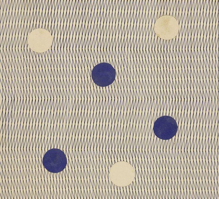 Hermann Fischer, Design for a Bauhaus wallpaper, c. 1932  / Bauhaus-Archiv Berlin