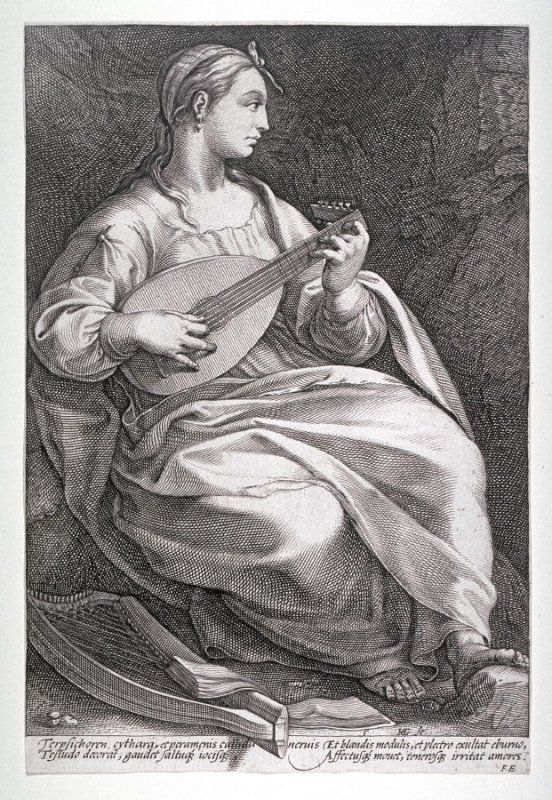 °Terpsichore (from The Nine Muses) - Hendrick Goltzius - 1592 - @LauChans Art