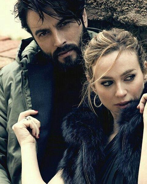 Javier con la actriz Marta Hazas.