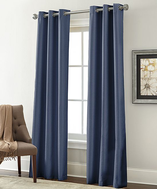 Ensign Blue Blackout Curtain Panel   Set Of Two