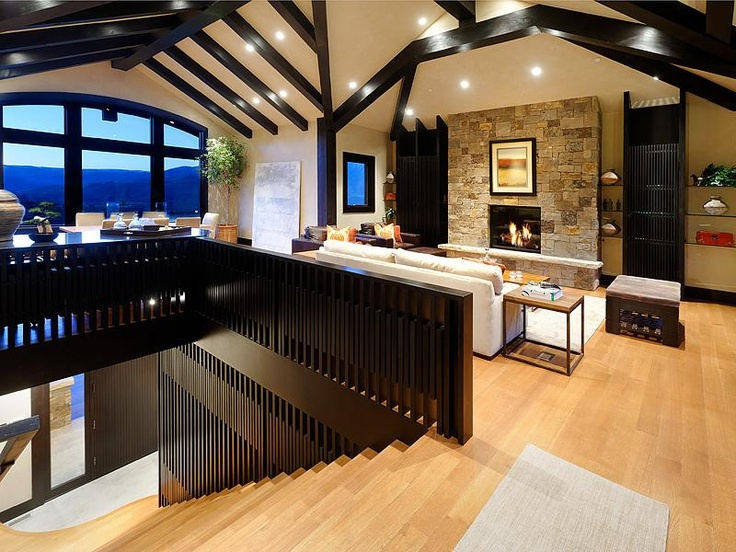 Loft style dream house open concept modern beauty design for Open concept house plans with loft