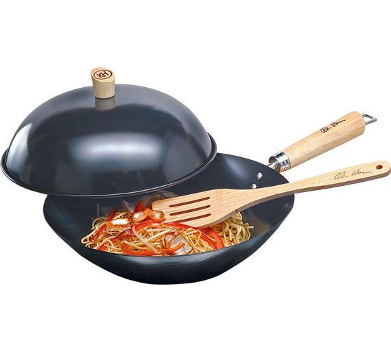 Buy Ken Hom 31cm Carbon Steel Hot Wok at Argos.co.uk - Your Online Shop for Frying pans and woks, Cookware, Cooking, dining and kitchen equipment, Home and garden.