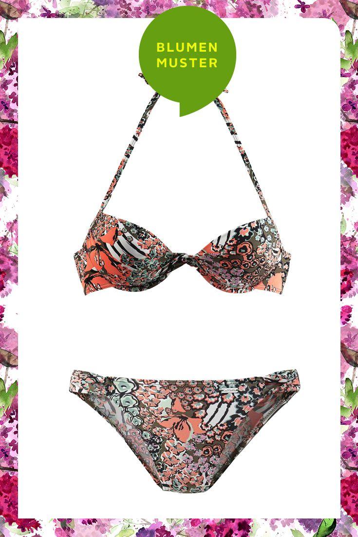 Blühende Strandblumen mit dem Push-up-Bikini von LASCANA.