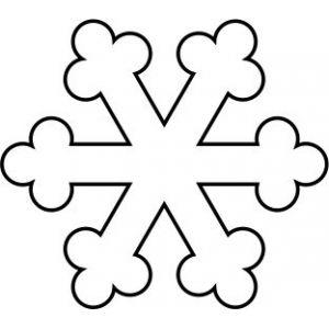 Carimbo floco de neve XL