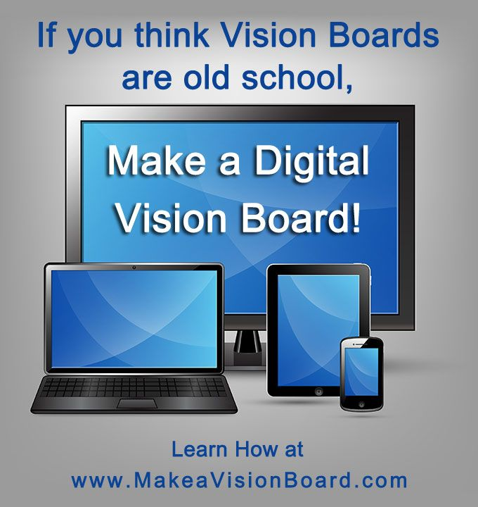 Want to go digital? You can make vision boards for your computer, phone & other mobile devices with vision board software or vision board apps. To learn how see this page: http://makeavisionboard.com/vision-board-software/