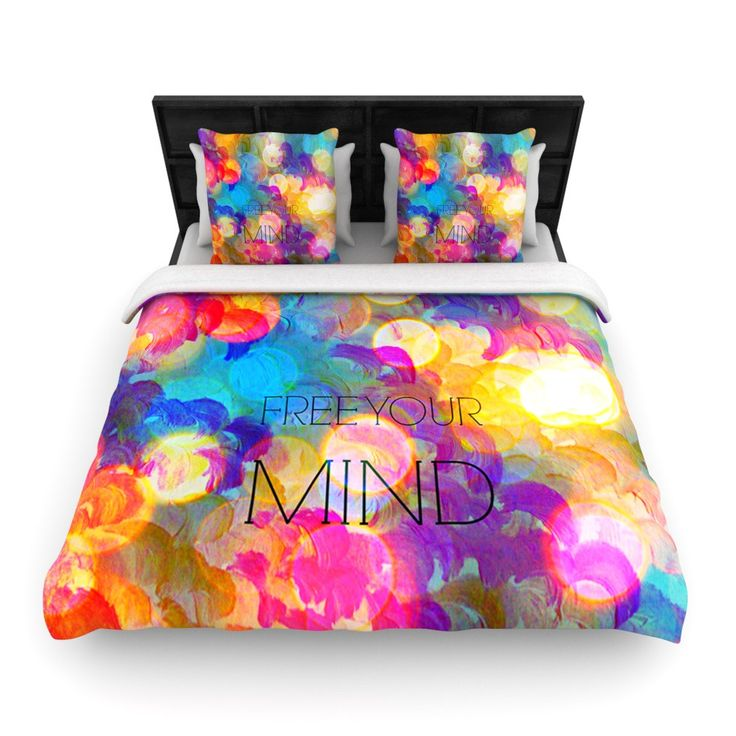 ebi emporium free your mind rainbow woven duvet cover - Really Cool Bedding