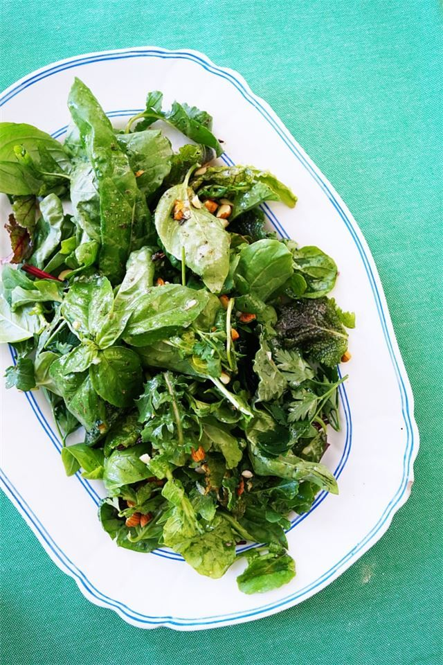 FRESH HERB SALAD WITH MELISSA'S VINAIGRETTE > Get Recipe