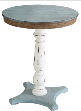 nautical style accent tables coastal furniture rustic accent rh pinterest com