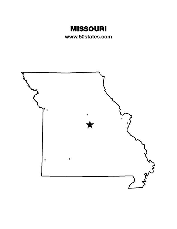 Tennessee State Outline With Capital