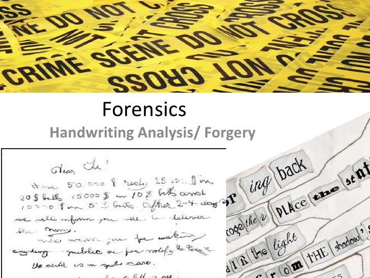 Fun foundations for handwriting analysis