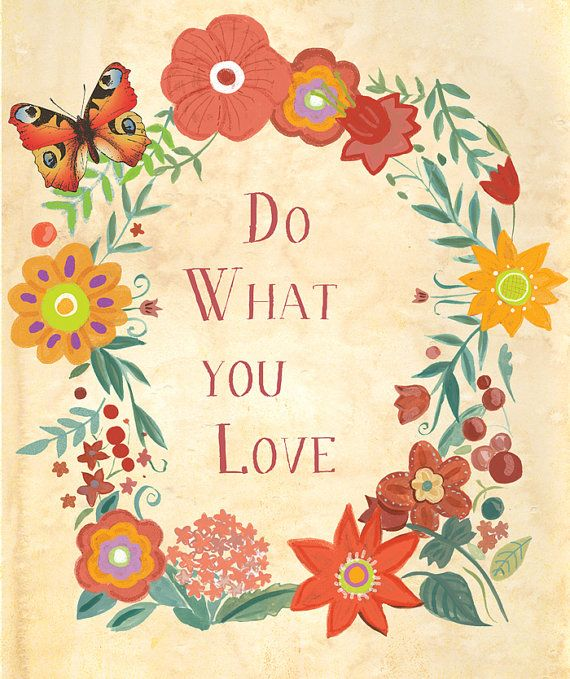 Do What You Love An Inspirational hand lettered by Faridazaman