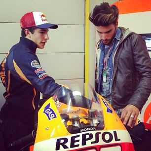 #marianodivaio at #assen #motogp with #gasjeans crew for #gasgoesfast digital project, here with #marcmarquez...more at live.gasjeans.com/