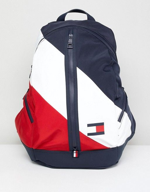 d49ebe25 Tommy Hilfiger Speed Backpack Icon Colors in Navy/White/Red | bags ...