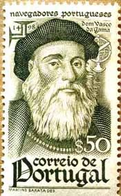 Portugal Vasco da Gama, portuguese explorer, the first person to sail directly from Europe to India