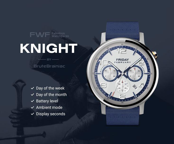Knight watch face by BruteBrainiac / #fwf #fabulouswatchfaces #androidwear #moto360 #huaweiwatch #tagheuer #huaweiwatch #smartwatch #watchface
