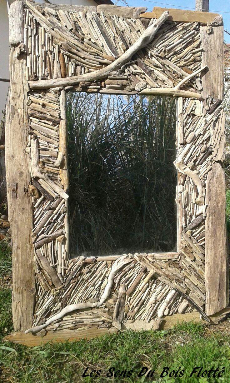 17 meilleures id es propos de miroir bois flott sur for Fabriquer deco bois flotte