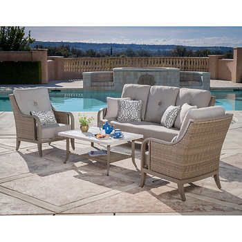 rio vista 4 piece deep seating set outdoor fire area in 2019 rh pinterest ch