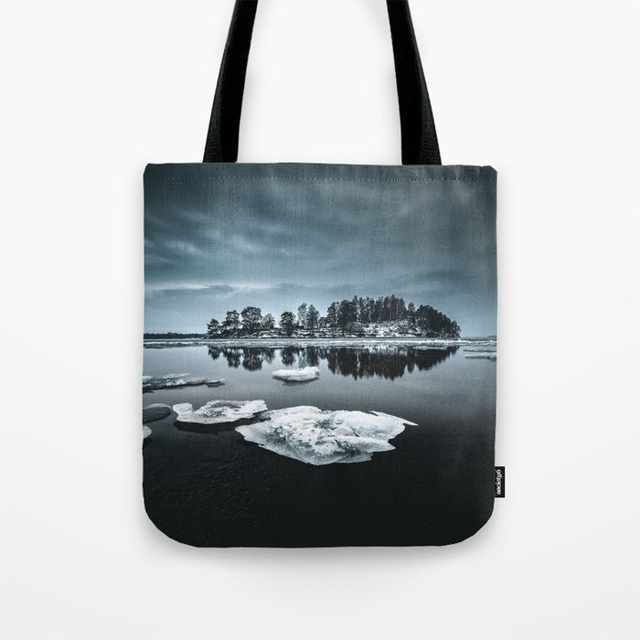 Only pieces left Tote Bag by HappyMelvin. #naturephotography #winter #ice #fineart #photography #totebag #bags