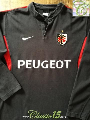 Official Nike Stade Toulouse home long sleeve rugby shirt from the 2004/2005 seasons.