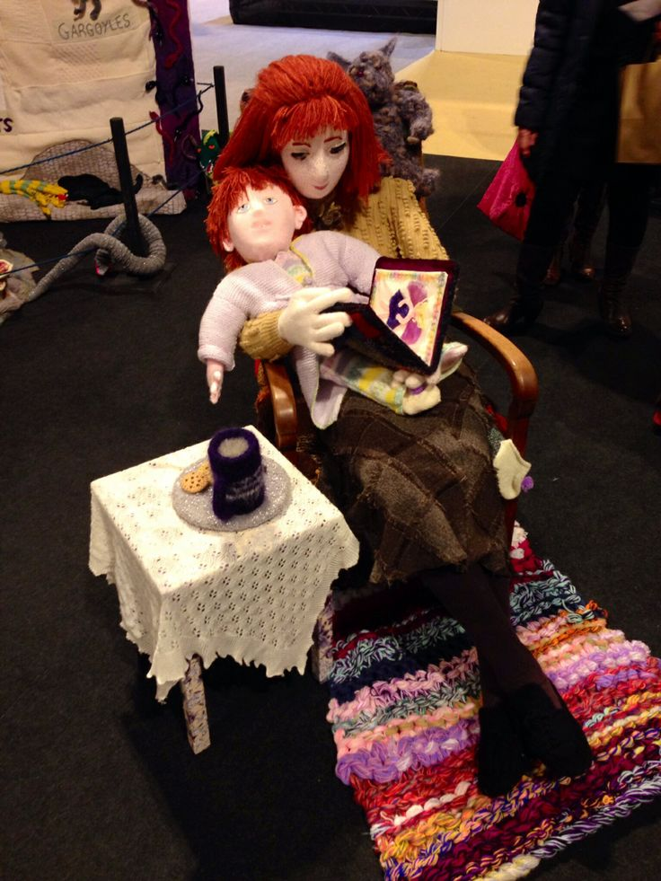Knitted people, mother and son at HobbyCraft