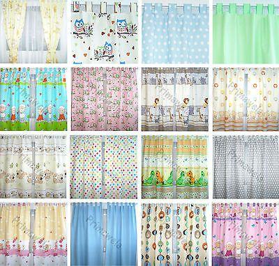NEU! mit Schlaufen!! Vorhang, Kinder, Baby Gardinen, Kinderzimmer Vorhänge
