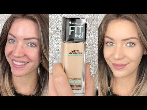First Impressions | Maybelline FIT ME! Matte and Poreless Foundation | Stephanie Lange - YouTube