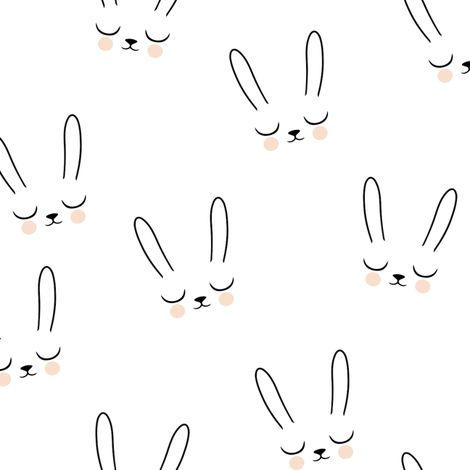 Sleepy Bunny fabric by kimsa on Spoonflower - custom fabric