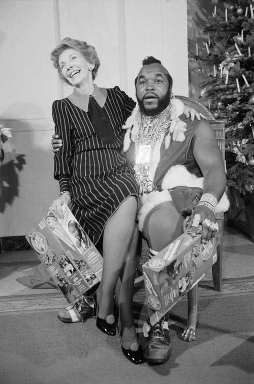 A White House Christmas! Starring Nancy Reagan as Herself and Mr. T as Santa.