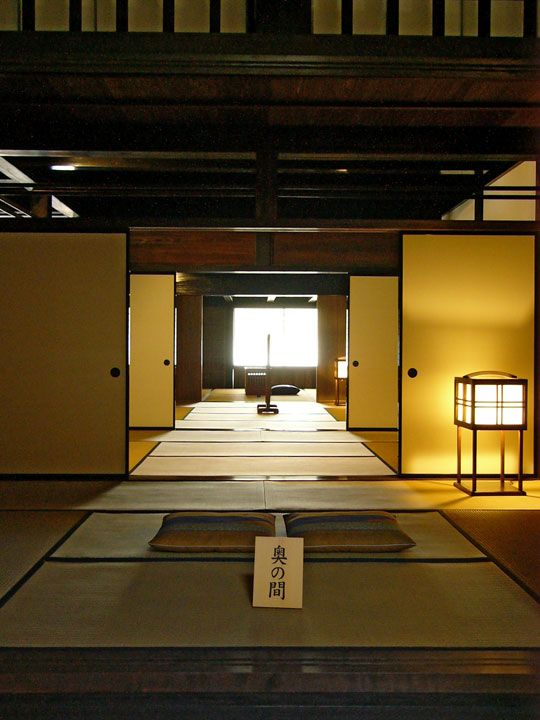 Japanese Architecture: Tatami Mats are made woven rush grass around a rice straw core and has been used as flooring in traditional Japanese homes since the Nara Period (794-1185). It is said that nobility and samarai would sleep on tatami mats while commoners would sleep on straw.