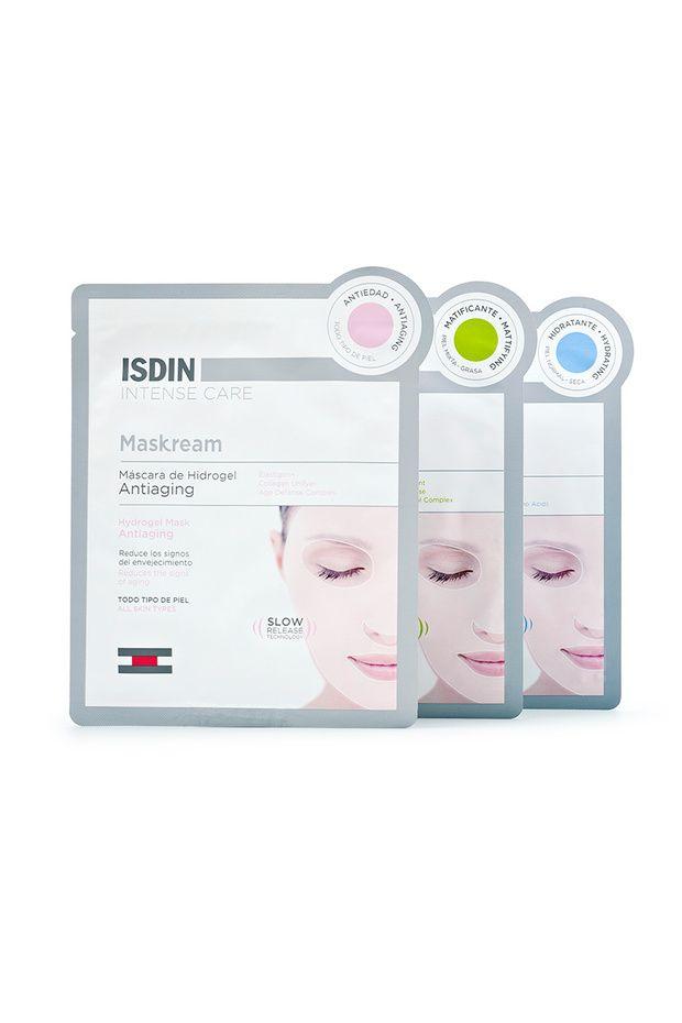 Mascarillas ISDIN para pieles sensibles, con arrugas o con acné.