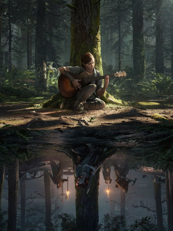 A Phone Wallpaper Of The 2 Themes The Last Of Us2 The Lest Of Us The Last Of Us