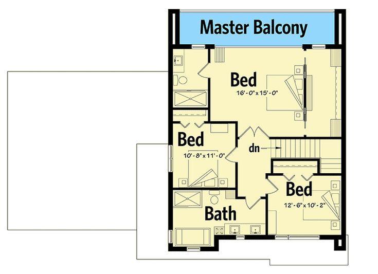 Plan 22487dr Plan De Maison Moderne Avec Master Up Avec