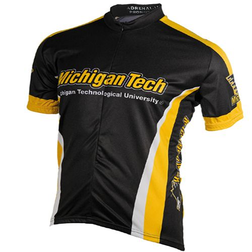 NCAA Mens Michigan Tech Cycling Jersey Large Black *** Read more at the  image link.